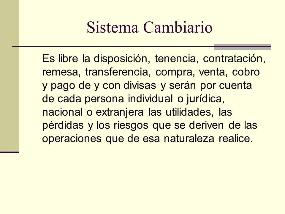 Sistema Cambiario