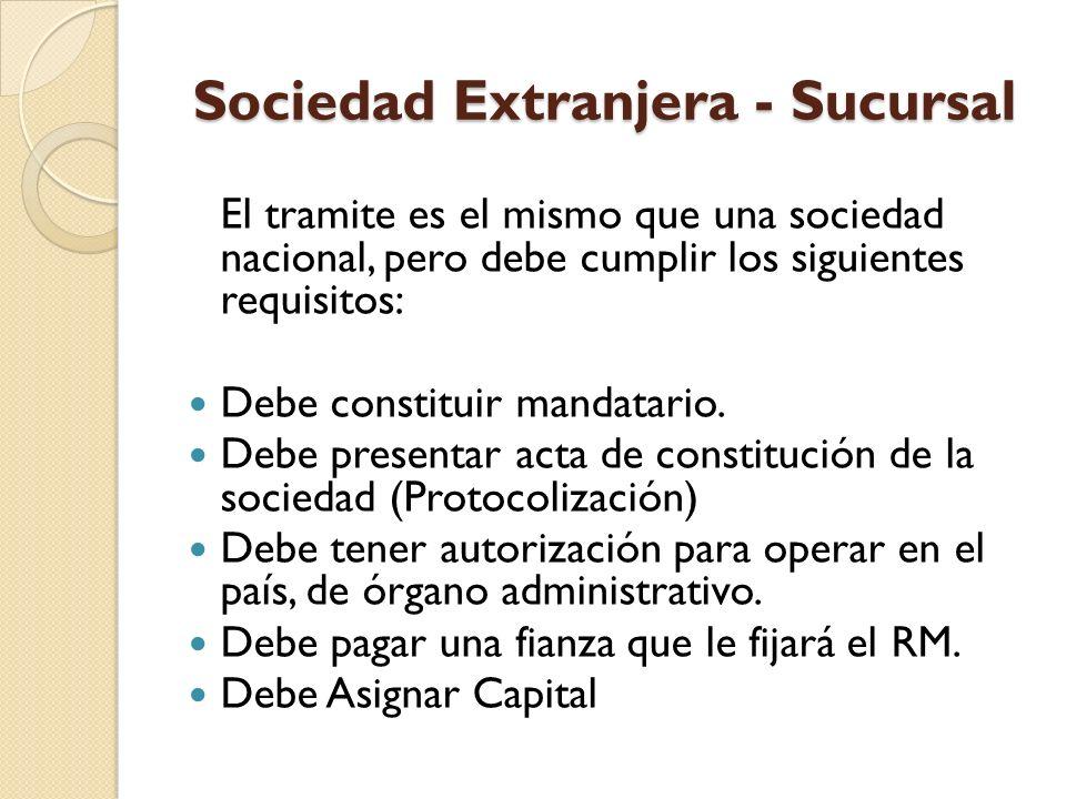 Sociedad Extranjera - Sucursal