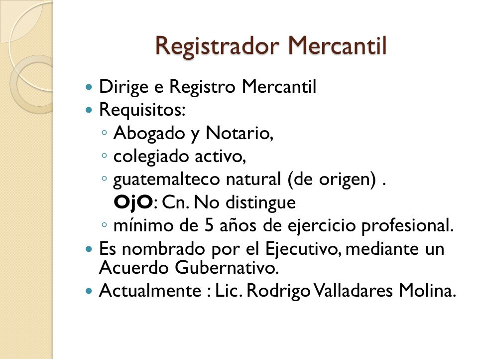 Registrador Mercantil