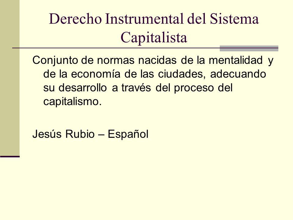Derecho Instrumental del Sistema Capitalista
