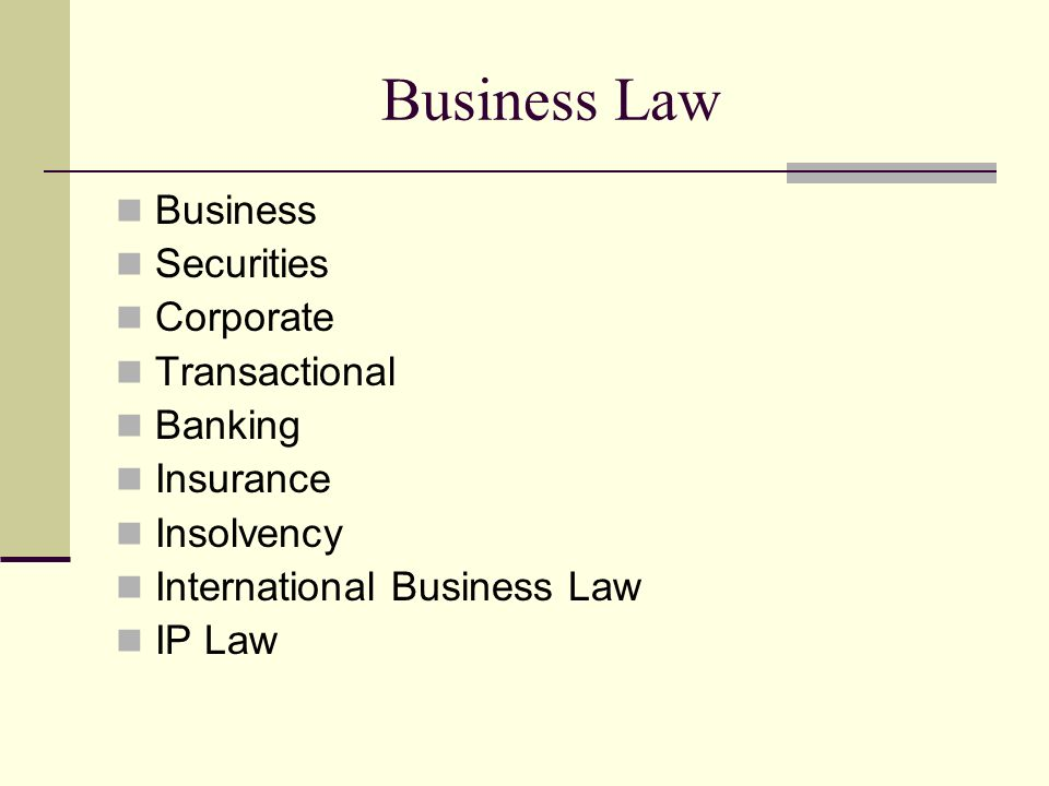 Business Law Business Securities Corporate Transactional Banking