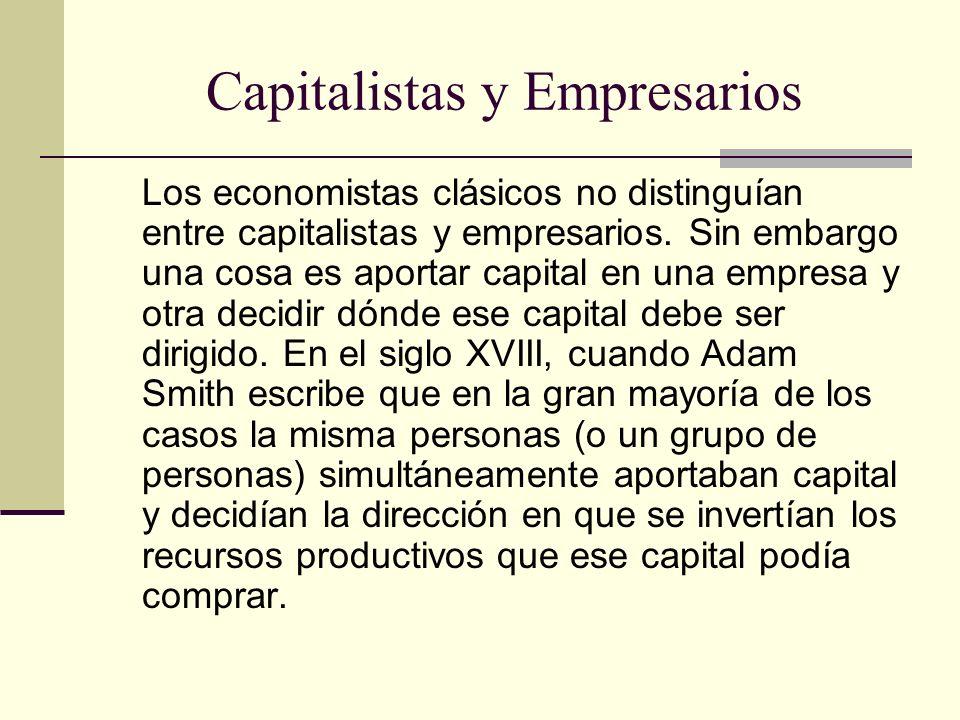 Capitalistas y Empresarios