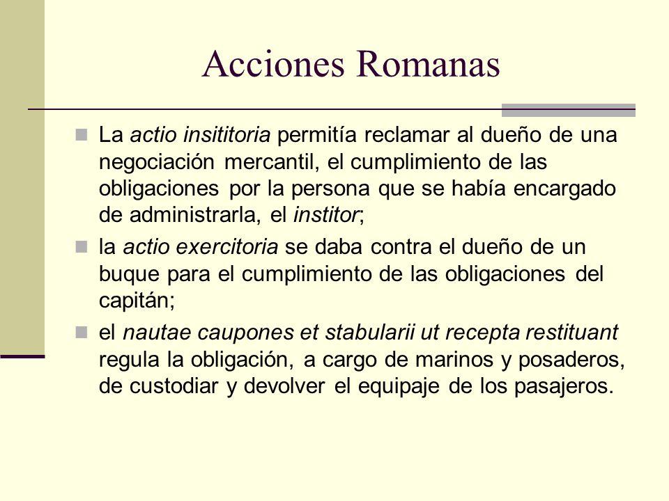 Acciones Romanas