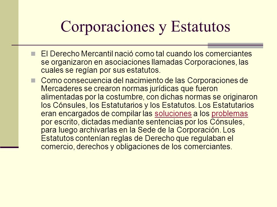 Corporaciones y Estatutos
