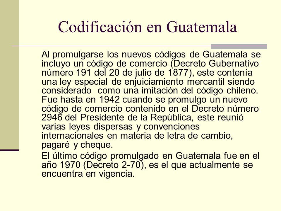 Codificación en Guatemala