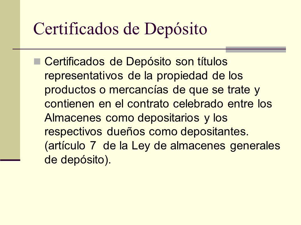Certificados de Depósito