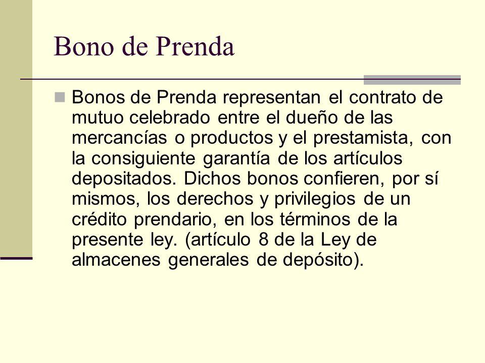 Bono de Prenda