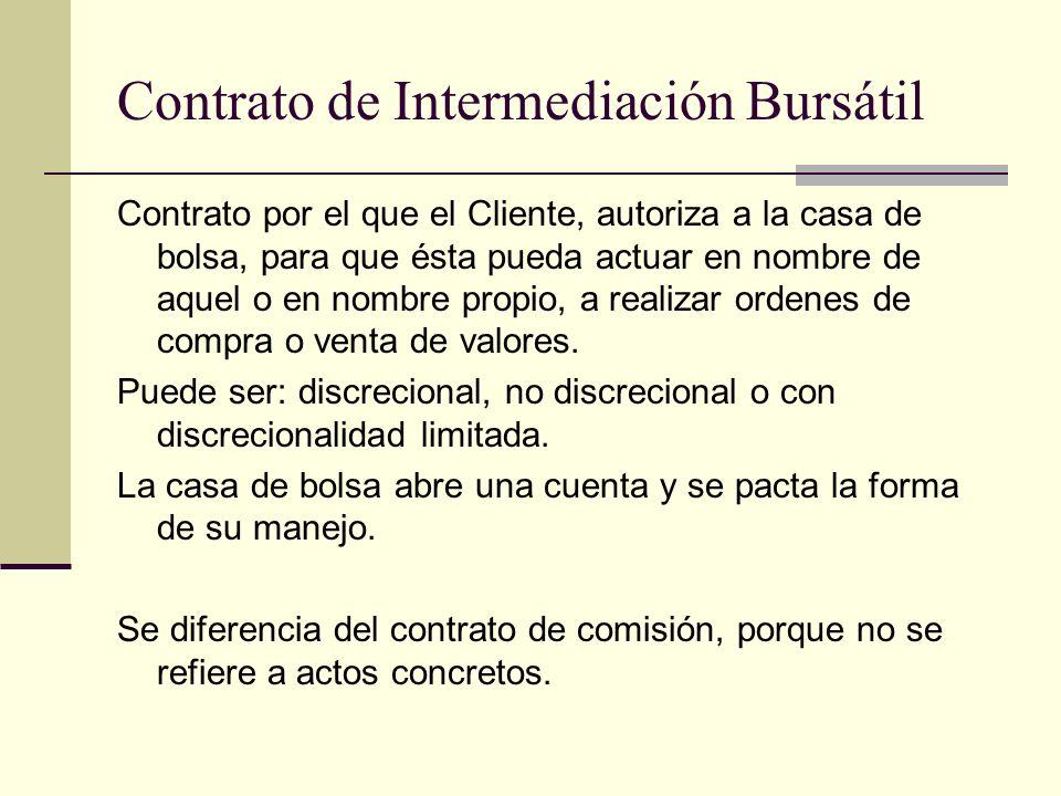 Contrato de Intermediación Bursátil