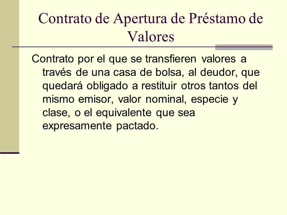 Contrato de Apertura de Préstamo de Valores