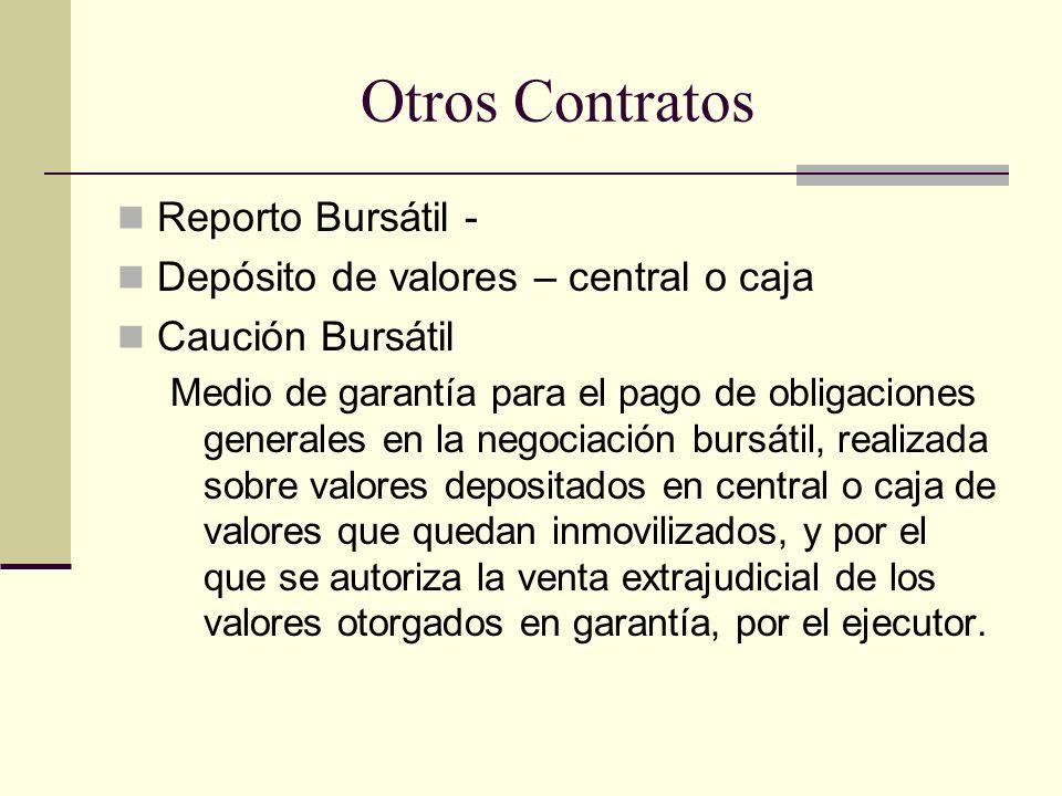 Otros Contratos Reporto Bursátil -