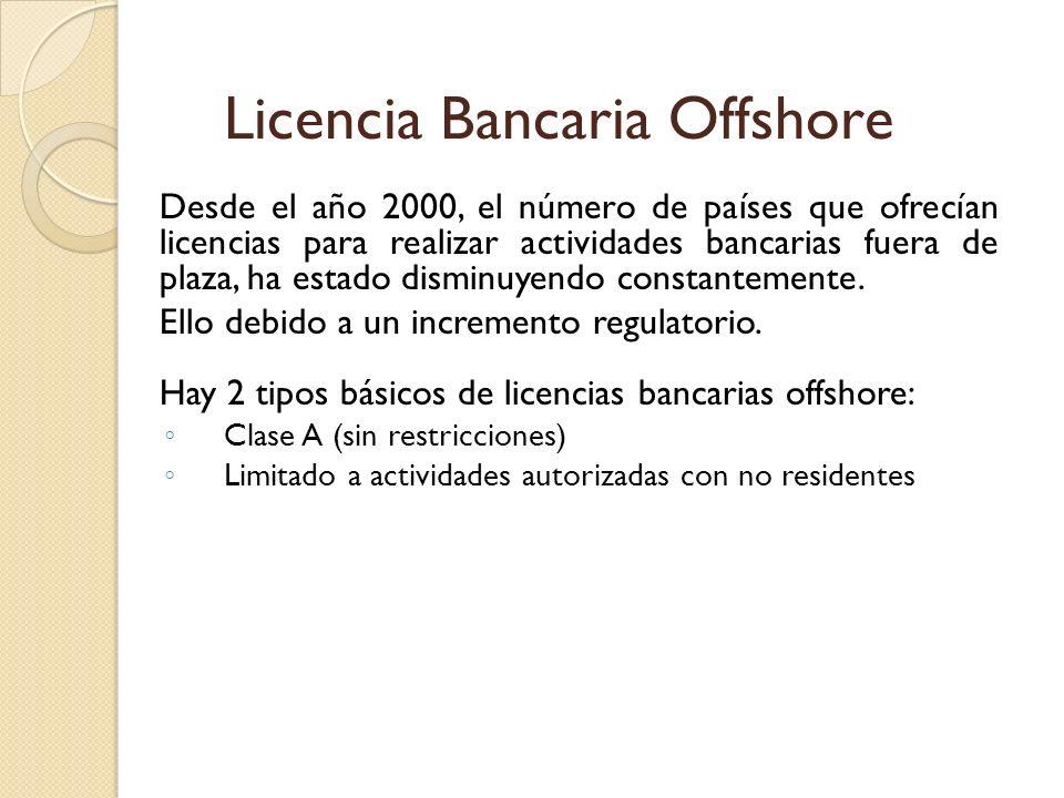 Licencia Bancaria Offshore