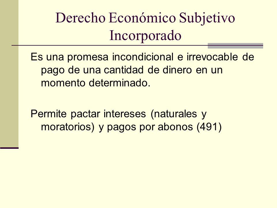Derecho Económico Subjetivo Incorporado