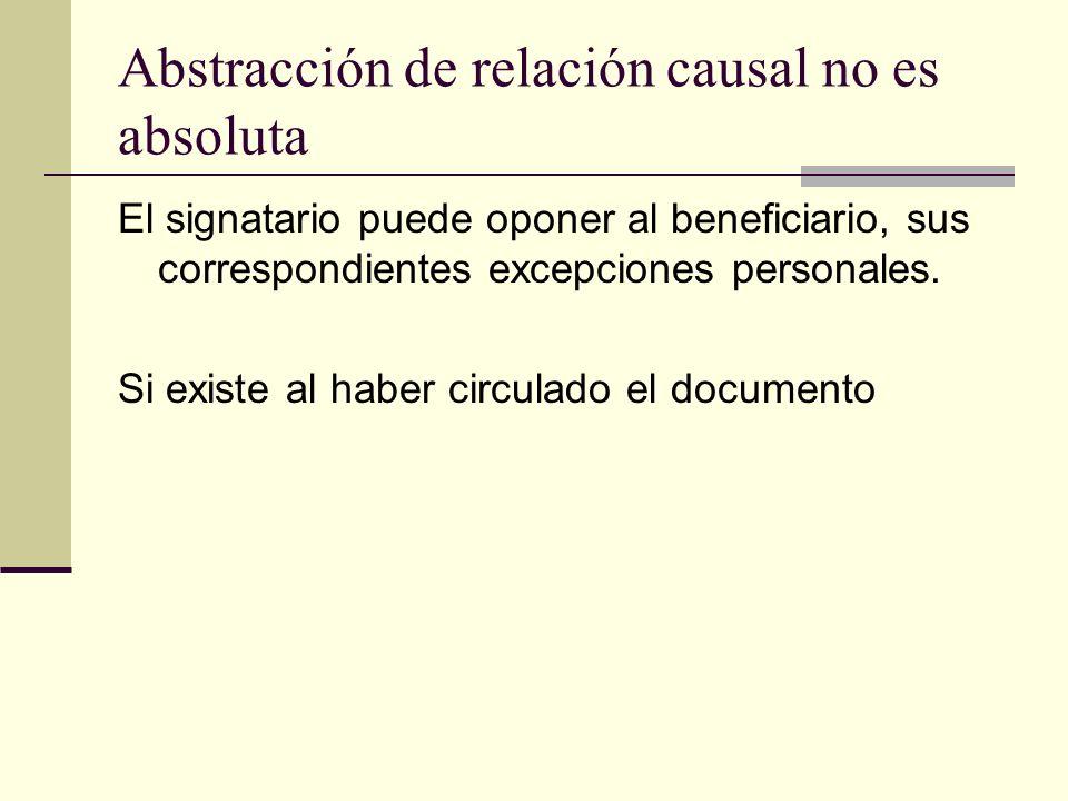 Abstracción de relación causal no es absoluta