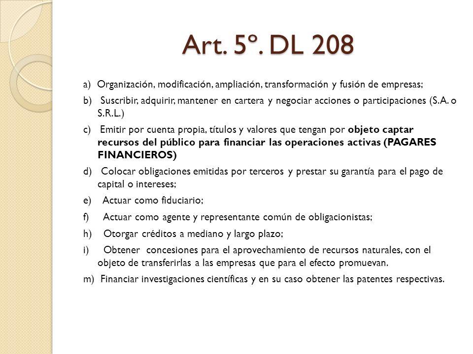 Art. 5º. DL 208
