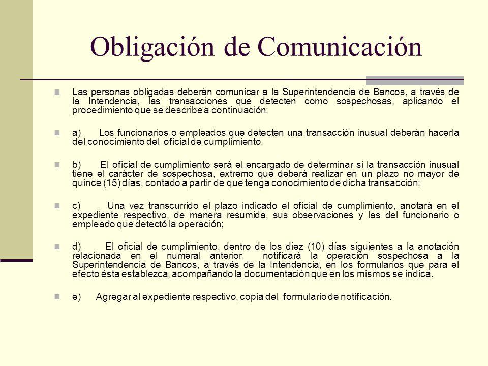 Obligación de Comunicación