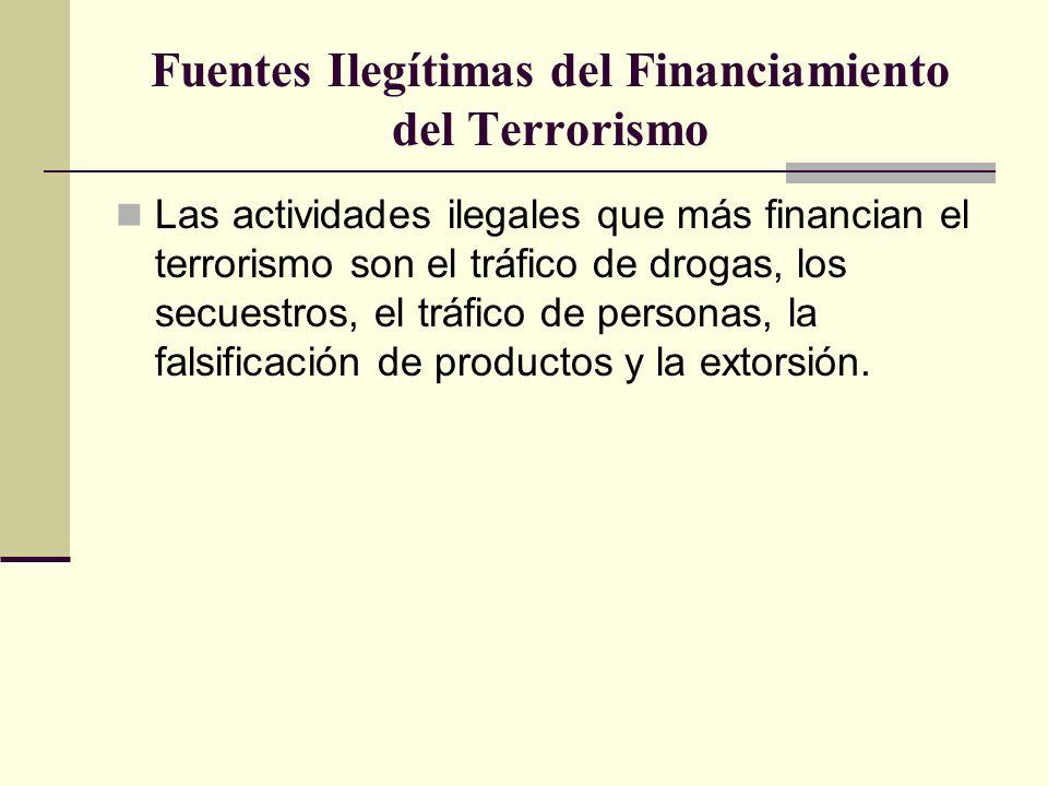 Fuentes Ilegítimas del Financiamiento del Terrorismo