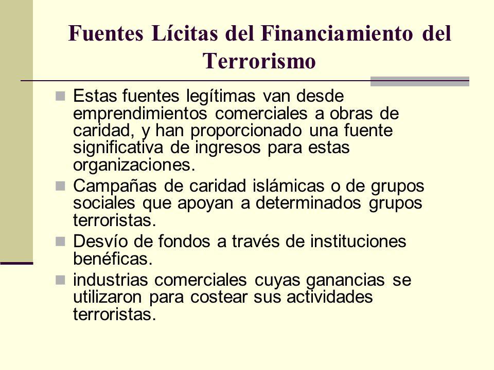 Fuentes Lícitas del Financiamiento del Terrorismo