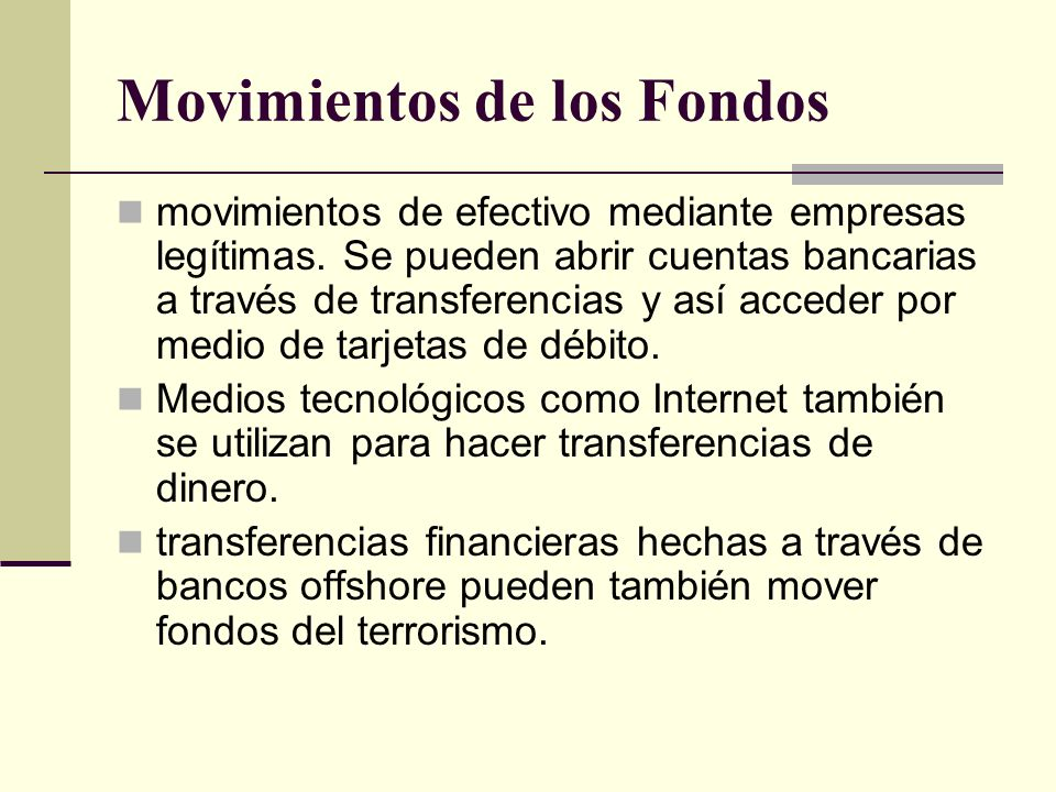 Movimientos de los Fondos