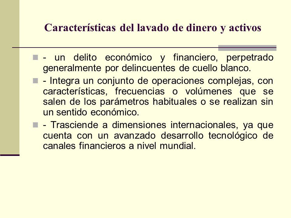 Características del lavado de dinero y activos
