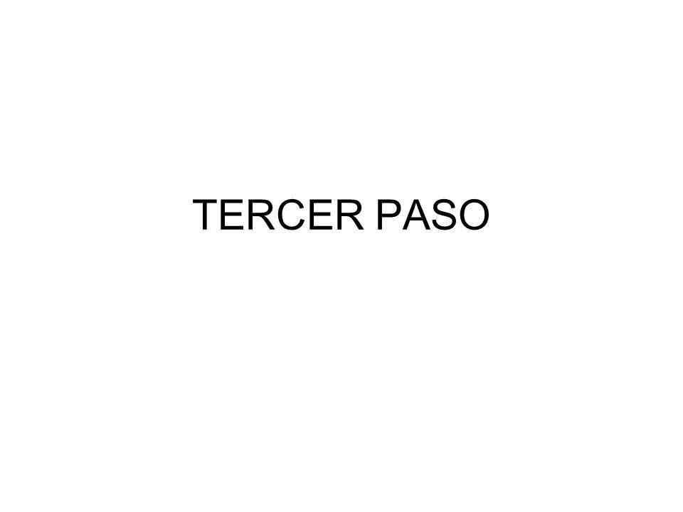 TERCER PASO
