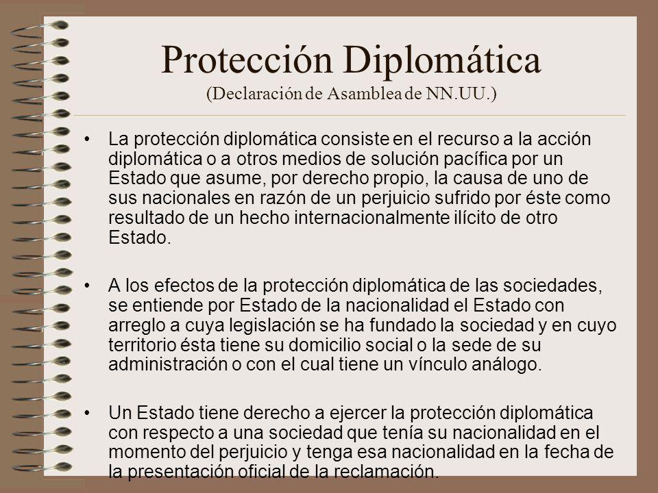Protección Diplomática (Declaración de Asamblea de NN.UU.)