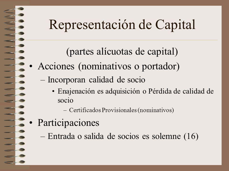 Representación de Capital