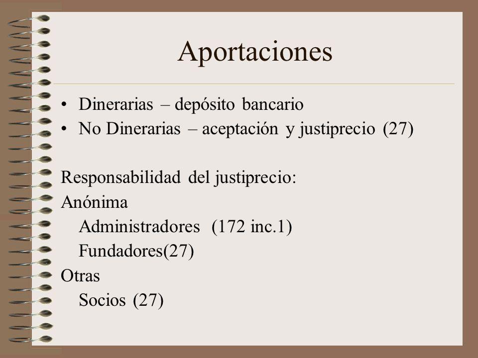Aportaciones Dinerarias – depósito bancario