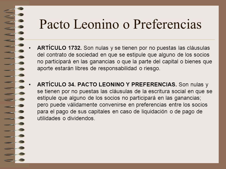 Pacto Leonino o Preferencias