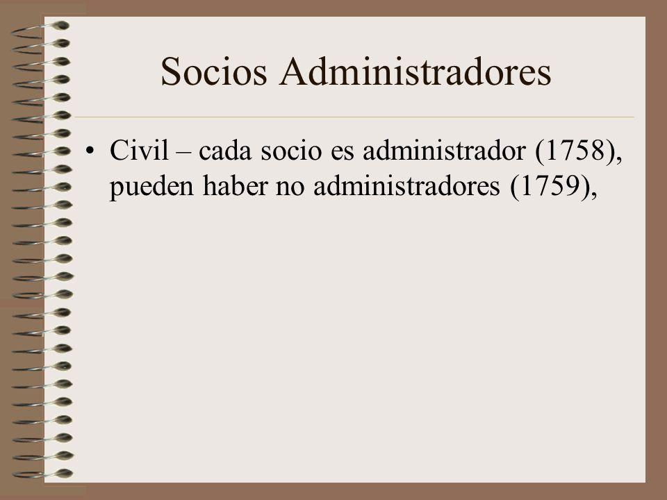 Socios Administradores