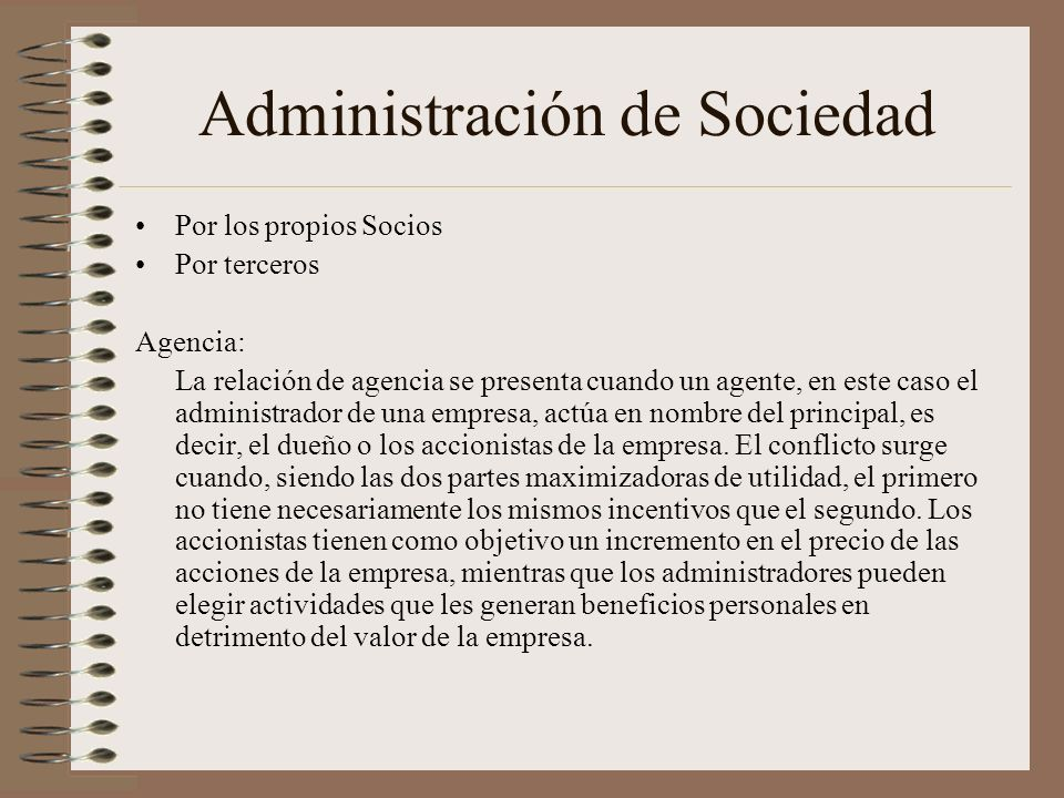 Administración de Sociedad