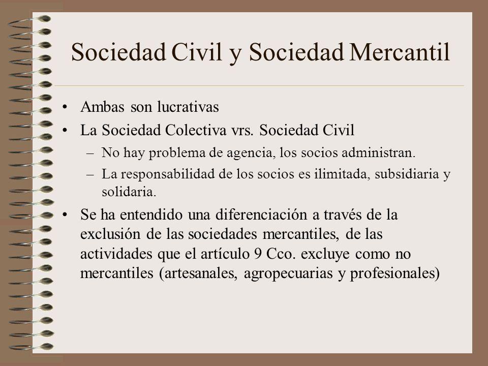 Sociedad Civil y Sociedad Mercantil