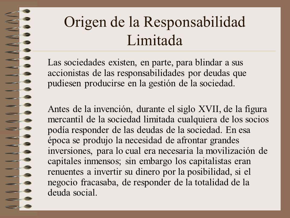 Origen de la Responsabilidad Limitada