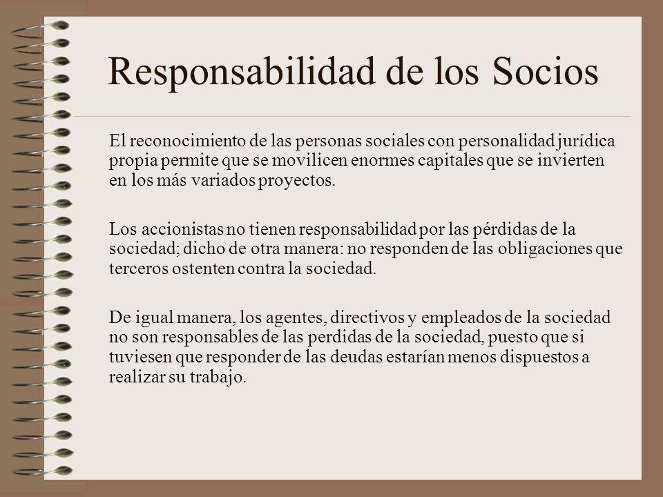 Responsabilidad de los Socios
