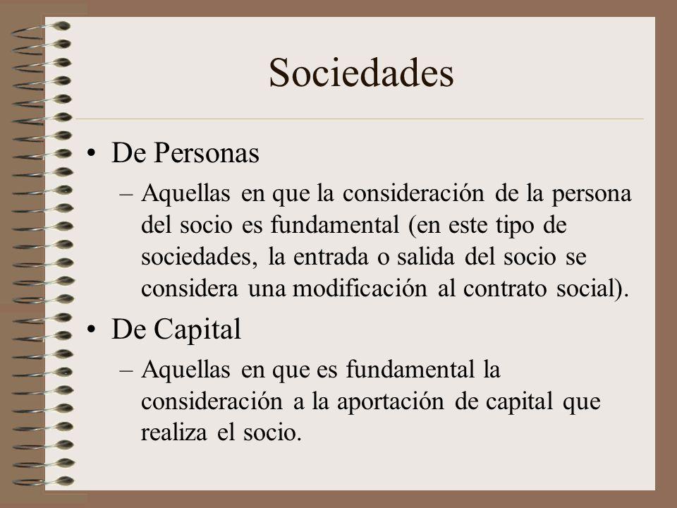 Sociedades De Personas De Capital