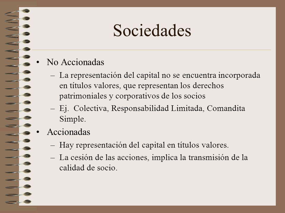Sociedades No Accionadas Accionadas