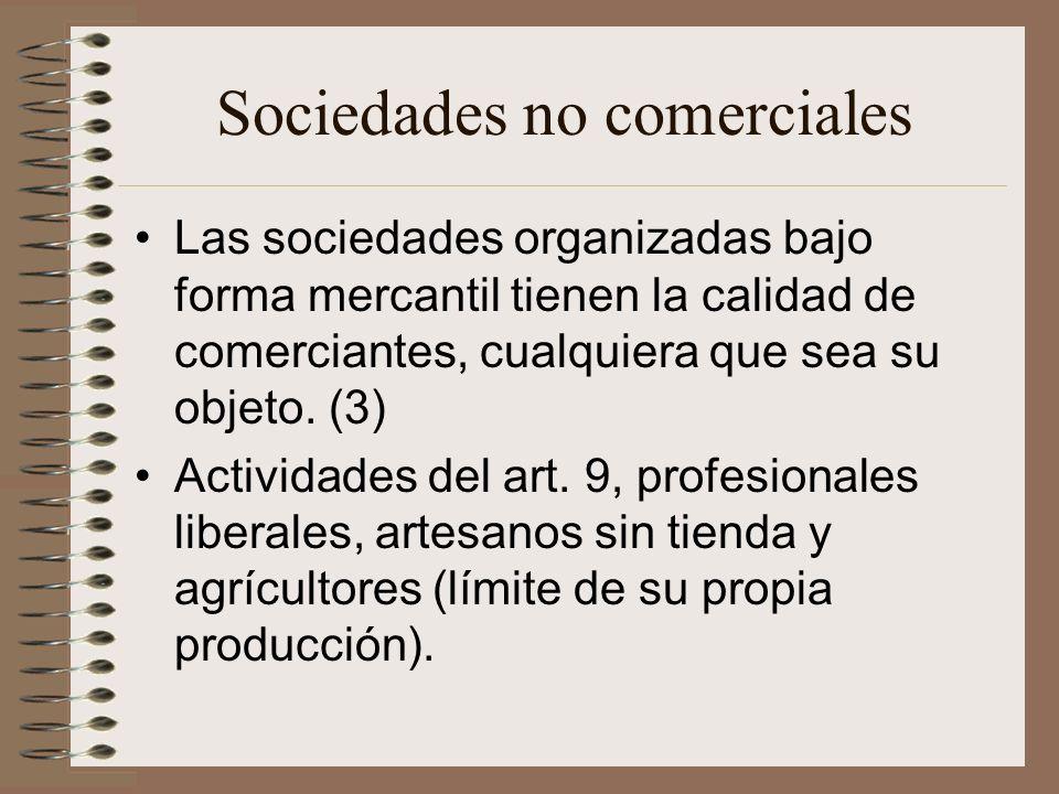 Sociedades no comerciales