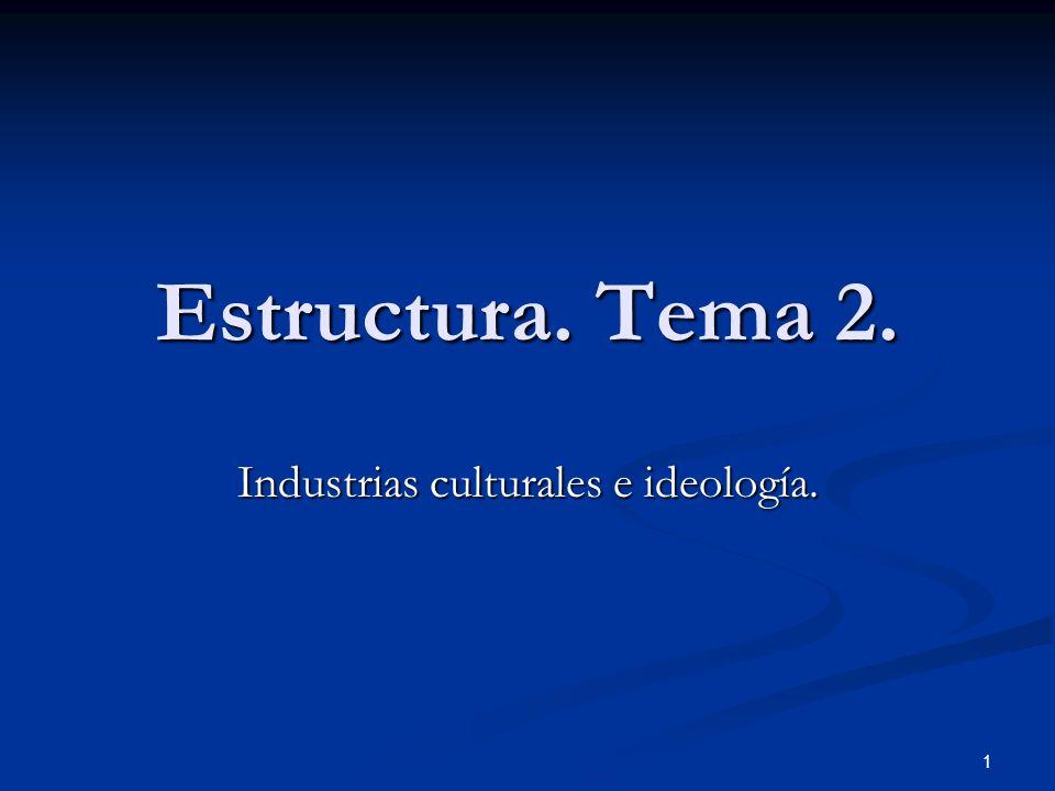 Industrias culturales e ideología.