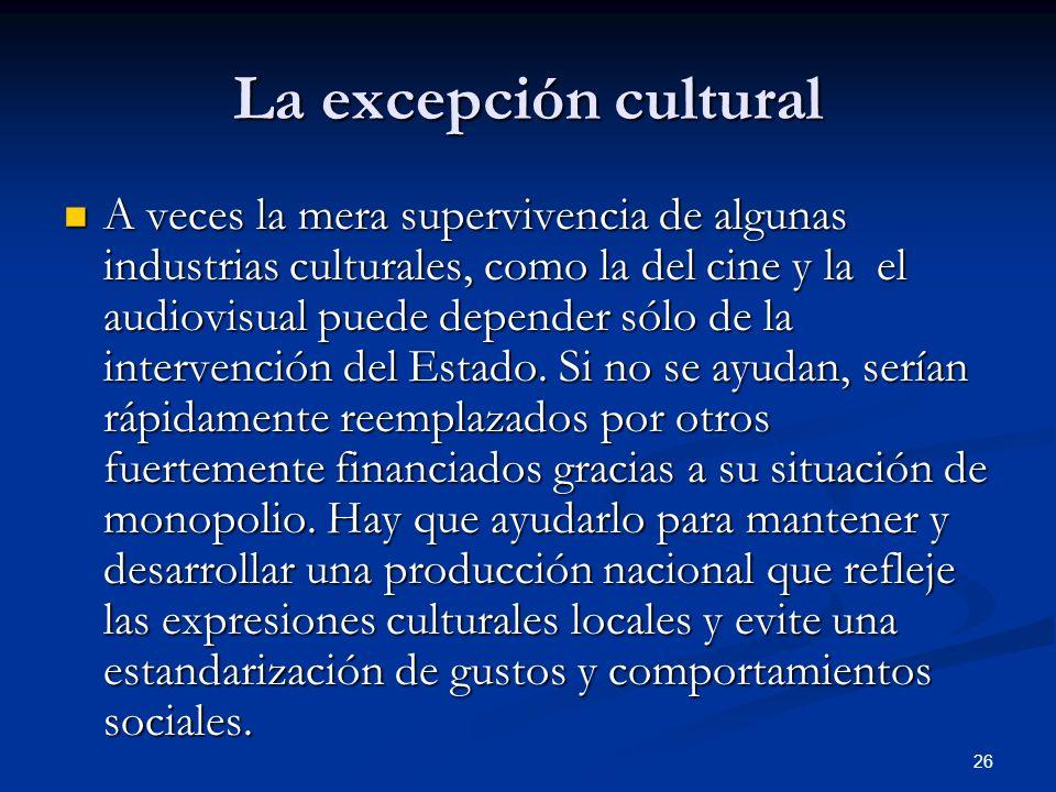 La excepción cultural
