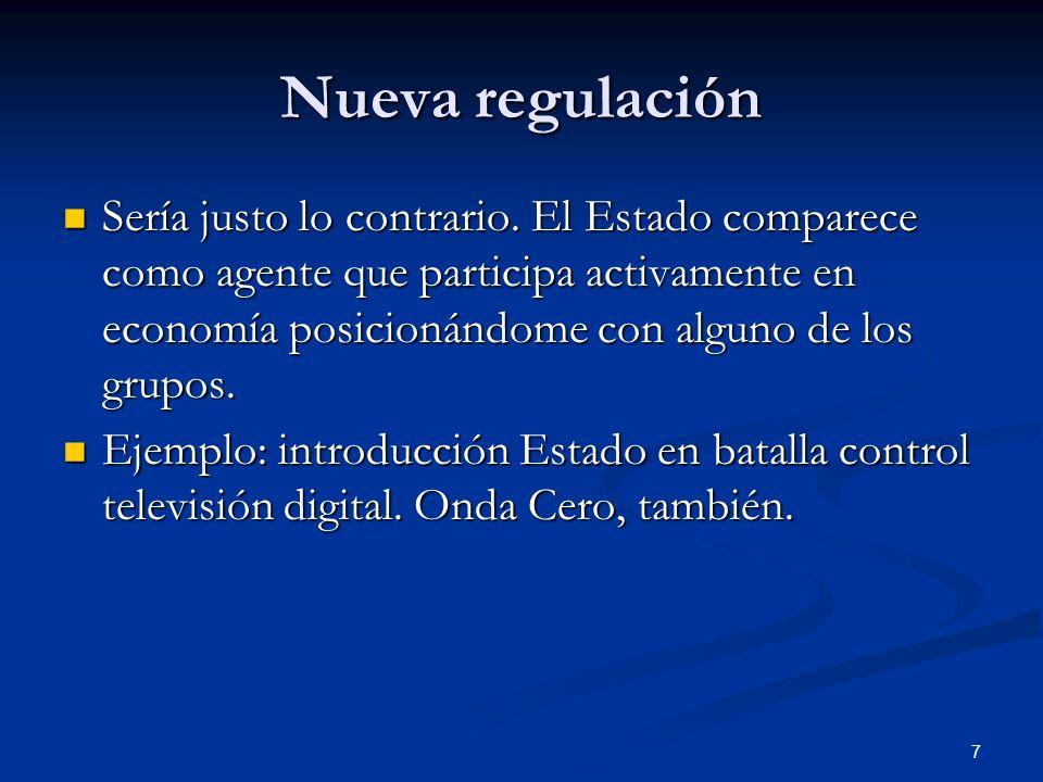 Nueva regulación