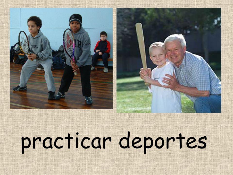 practicar deportes