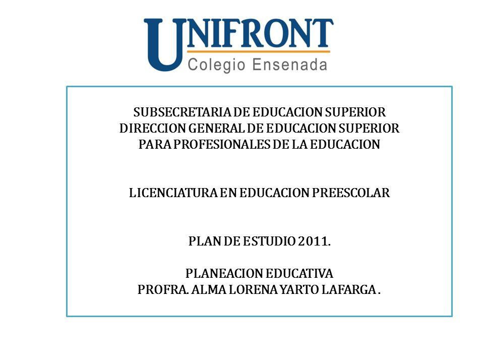 SUBSECRETARIA DE EDUCACION SUPERIOR