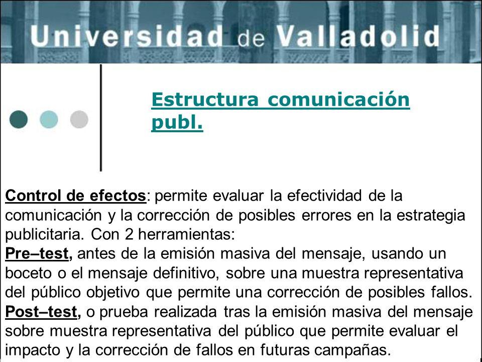 Estructura comunicación publ.