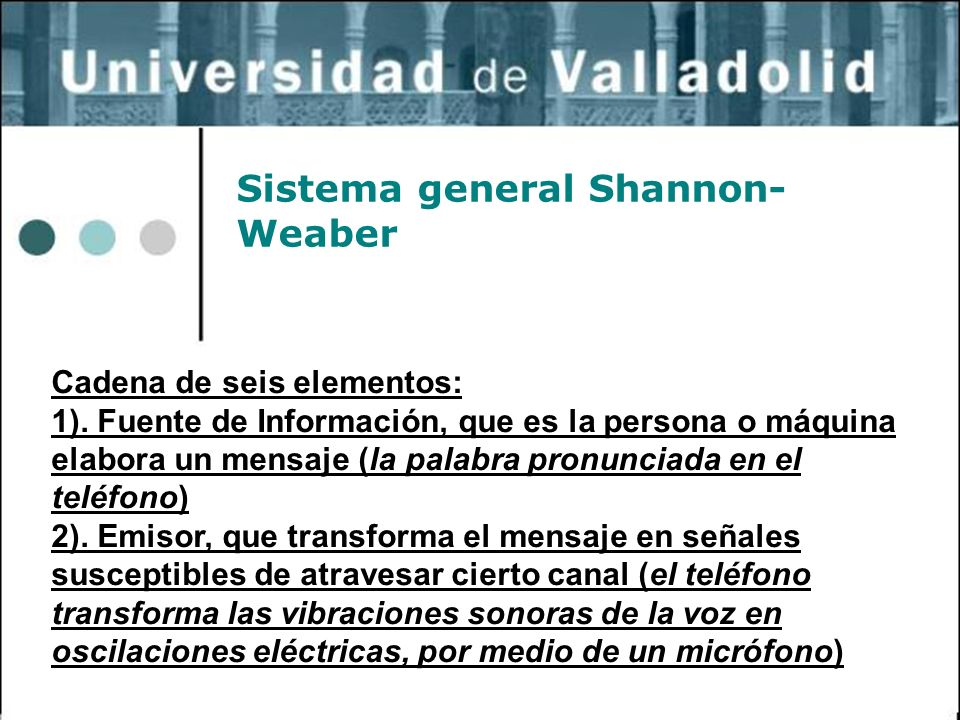Sistema general Shannon-Weaber
