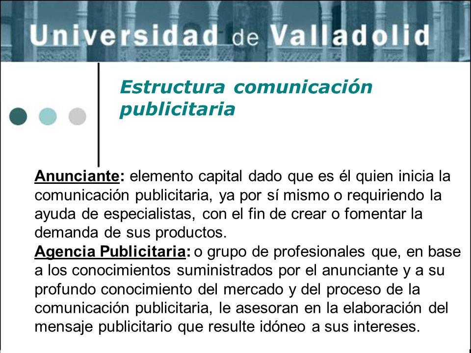Estructura comunicación publicitaria