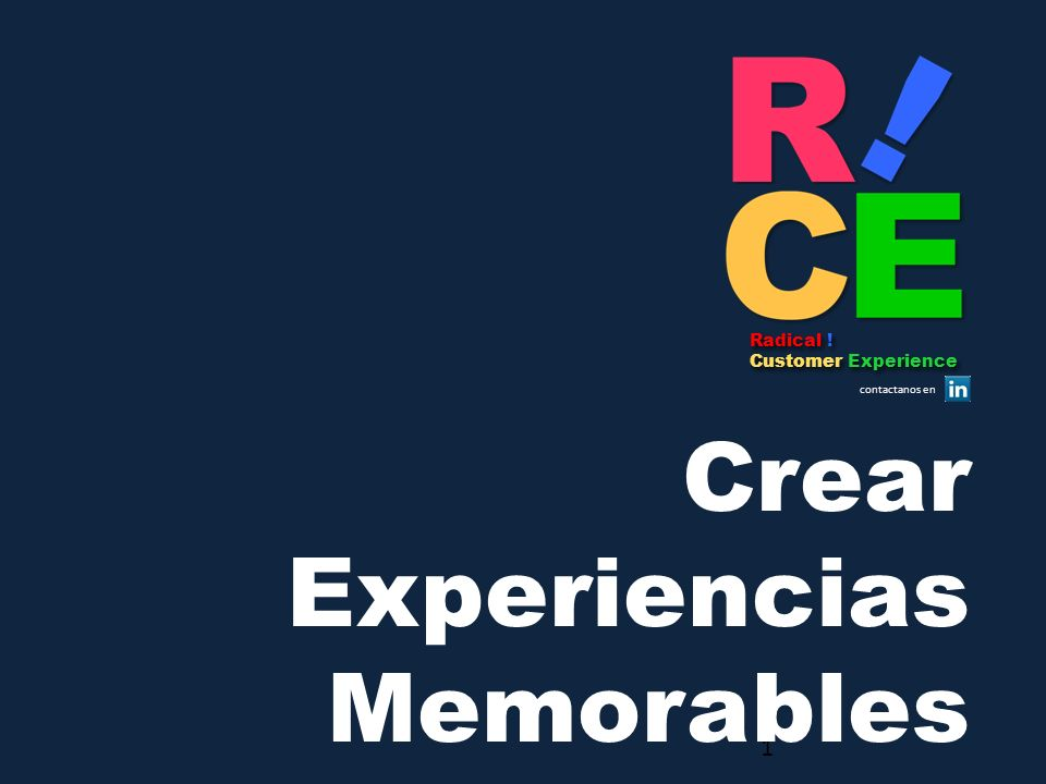 Crear Experiencias Memorables