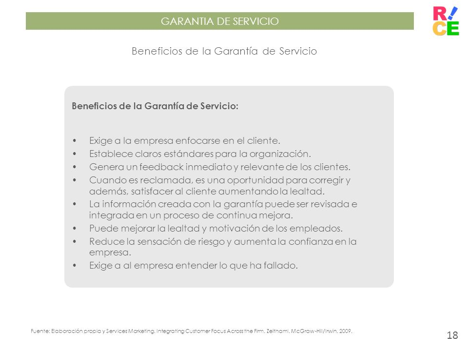 Beneficios de la Garantía de Servicio