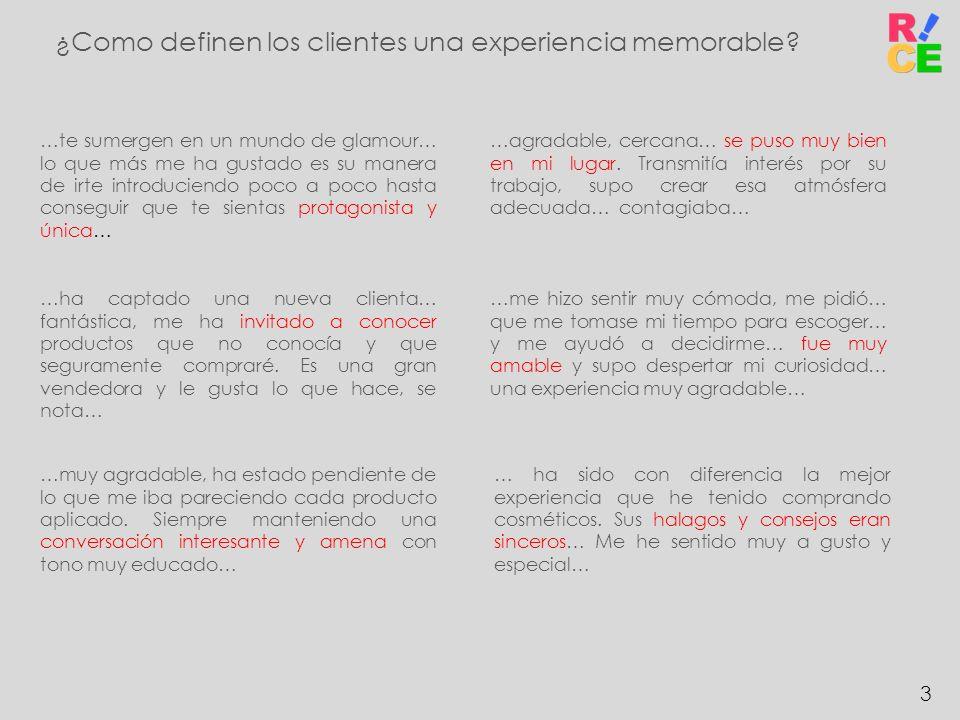 ¿Como definen los clientes una experiencia memorable