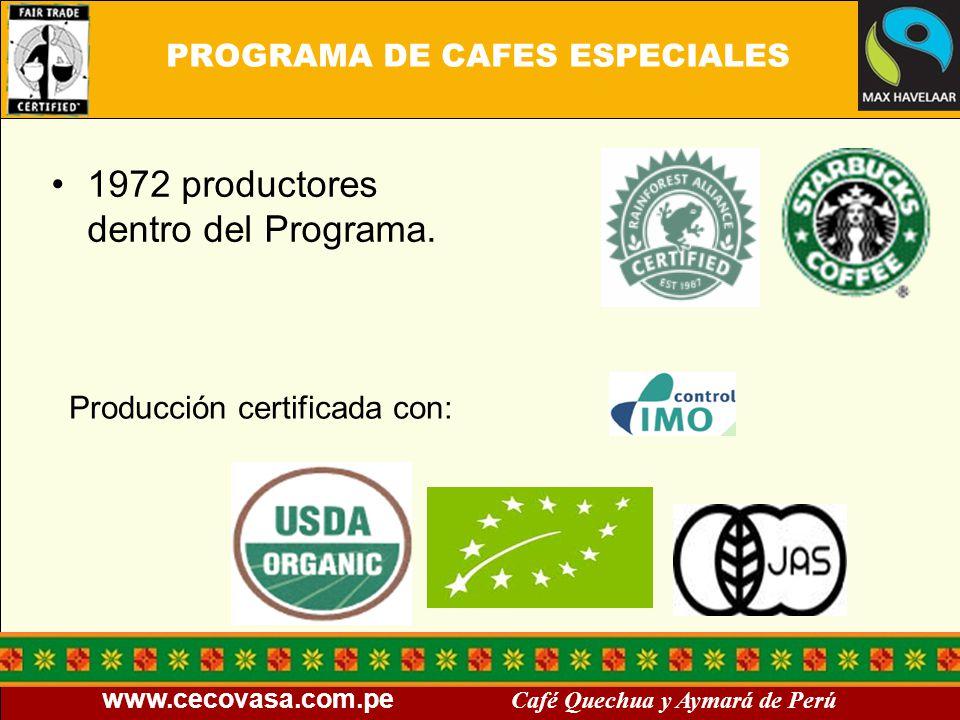 PROGRAMA DE CAFES ESPECIALES