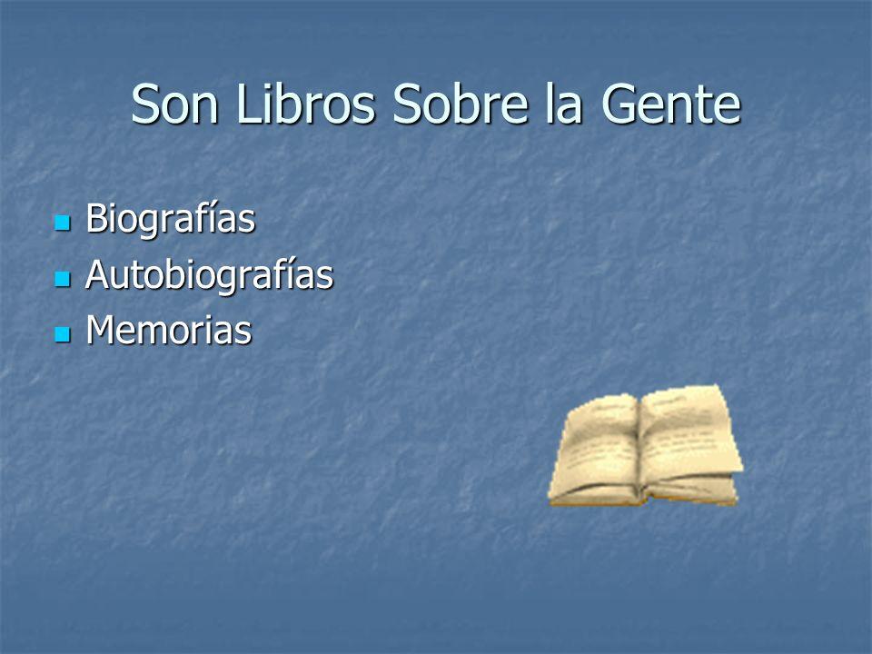 Son Libros Sobre la Gente