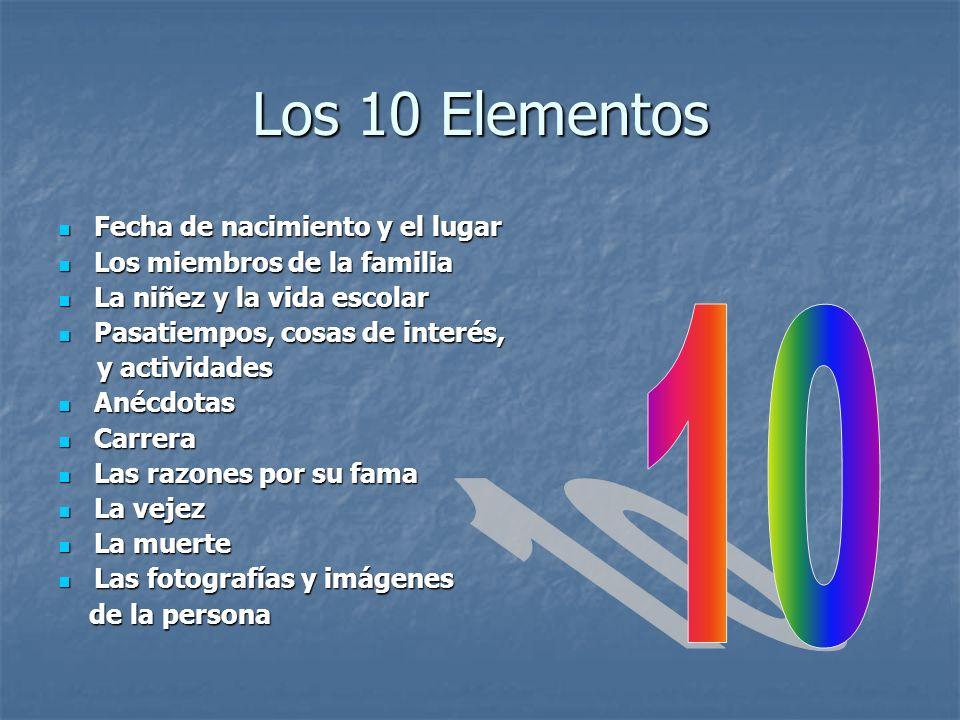 Los 10 Elementos 10 Fecha de nacimiento y el lugar